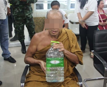 Mahaniphon Susutto said that there is nothing in Buddhist rules to prohibit him from driving. Police, however, fined him 800 baht for not having a license or vehicle registration.