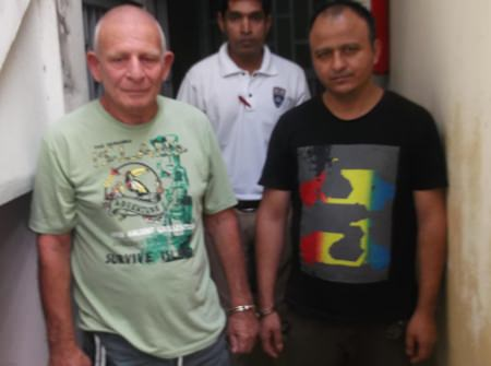 American Paul Alan Shapiro (left) and Indian Pan Singh (right) have been pardoned, although Shapiro will be deported to the USA to face further charges.