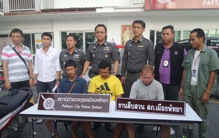 Teerayut Saengmanee, German-Thai Nathapak Kiertfilipine, and Subin Thiparak were arrested and charged with property damage.