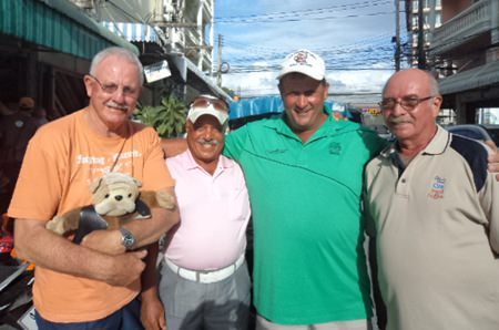 (L to R) Eric Black, Ebrahim, Graham Rice & John Anderson.