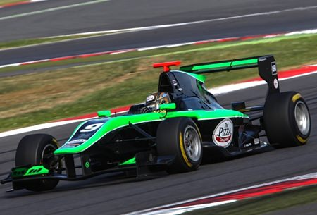 Sandy Stuvik drives during Round 3 of the GP3 Series at Silverstone, England.