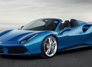 A blue Ferrari.