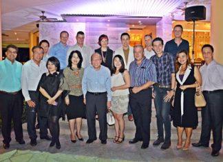 Front Row (l-r) Tony Malhotra (Pattaya Mail), Alex Jureeratana (GM Centara Grand Modus Resort Pattaya), Vanjie Lauzon (Asst. Director of Communications Dusit Thani), Pakamon Wongyai (GM Imperial Hotel Pattaya), Chatchawal Supachayanont (GM Dusit Thani Pattaya), Rungthip Suksrikarn (VP Sunbeam Hotels), Rene Pisters (GM Thai Garden Resort), Sanphet Suphabuansathien, (President of the THA Eastern Chapter), Koonlapatporn Intarasing (Siam Winery) and Neoh Kean Boon (RM Dusit Thani Pattaya). Back Row (l-r) Larry Choi (Dusit Thani Pattaya), Max Sieracki (GM Nova Platinum), Carl Duggan (GM Centara Grand Phratamnak Resort Pattaya), Bundarik Kusolvitya (MD The City Hotel Sriracha), Natthasith Wijitwikrom (Mountain Beach Hotel), Danilo Becker (Thai Garden Resort) and Jonas Sjostedt (GM Nova Hotel & Spa).