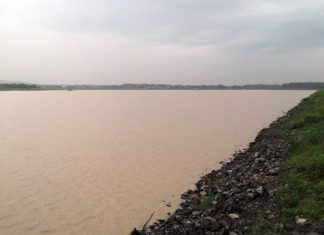 Mabprachan Reservoir's water level increased 70 centimeters during the Sept. 14-18 storm.