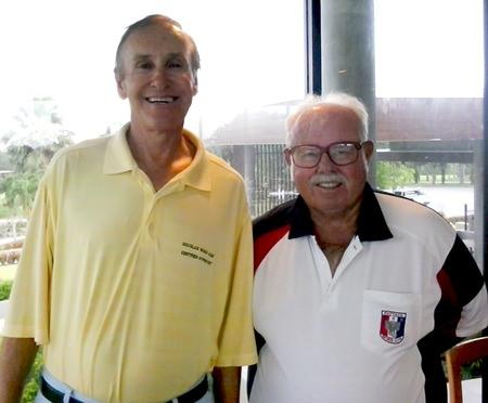 Doug Maiko (left) with Dave Richardson.