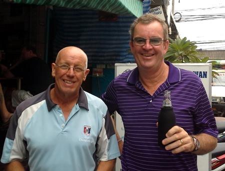 John Davis (left) with Kev Waycott.