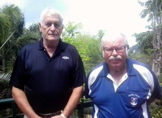 Karl Beter (left) with Dave Richardson.