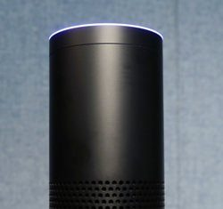 Amazon's Echo speaker, which responds to voice commands, is the latest advance in voice-recognition technology that's enabling machines to record snippets of conversation that are analyzed and stored by companies promising to make their customers' lives better. (AP Photo/Mark Lennihan, File)