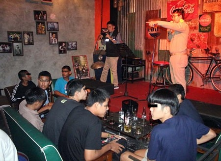 Police raid the Jerajat Club, also known as the Outlaw Pub, in central Pattaya to find several underage drinkers and drug use.