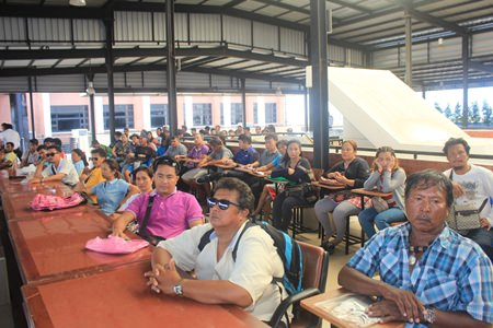 Jet ski operators from local beaches that attended the meeting look rather bored at the prospect of more regulation.