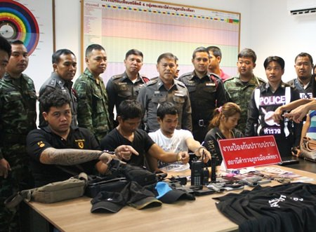 Police were able to break up a gang posing as police and military that was targeting alleged drug users for extortion.