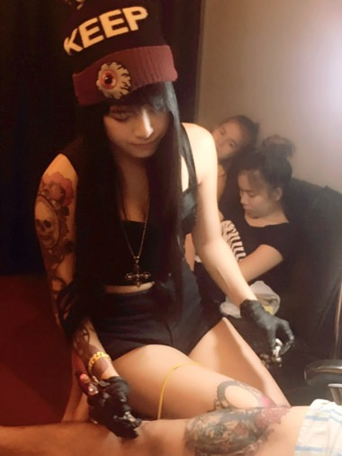 Tattoo Artist Kwankao Nong Kim Kattiya Has Become The Latest Thai Internet Sensation
