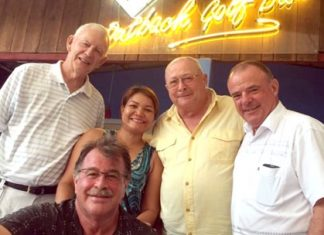 (From left) John Stafford, Bob Mattes, Sunanta Cotterell, Andy Makara and Tom Byrne.