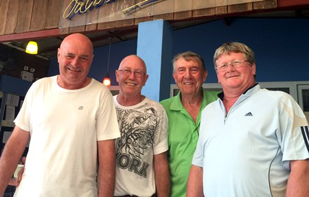 (Left to right) Steve Mann with Wally Brown, Eddie Beilby and Wayne Cotterell.