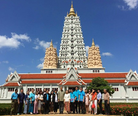 Pattaya's government, tourism and business leaders visit Yansangwararam Temple to learn its history as a step toward promoting it as a religious study center.