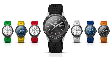 """This undated image provided by Google shows the Tag Heuer Connected luxury watch. Tag Heuer has partnered with Intel and Google to produce the computerized wristwatch billed as the """"world's smartest luxury watch."""" (Google via AP)"""