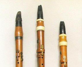 Late 18th century five-key clarinets.