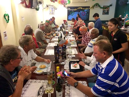 East Side Friendly Golf Society members enjoy a festive dinner at Shenanigans By The Lake.