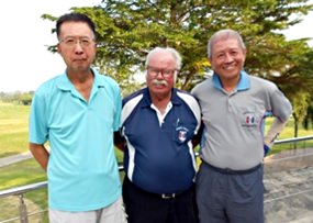 Takeshi Hakozaki and Kenny Chung with Dave Richardson.
