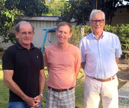 (From left) Paddy Devereux with Jonathan Pratt & Joop Bijsterbosch.