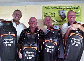 The Players Lounge team – winners of the 2015 Absent Friends scramble.