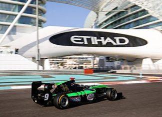 Thailand's Sandy Stuvik negotiates a corner at the Yas Marina circuit in Abu Dhabi, United Arab Emirates, Sunday, November 29.