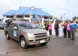 A caravan put together by charitable donors in Sattahip, sets out to help less-fortunate and poor children in the remote mountain areas of Mae Hong Son.