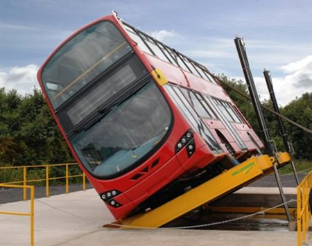 Bus rollover.