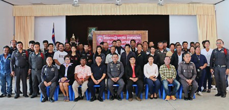Sattahip police and local civilian volunteers sit for a group photo after their recent training session.