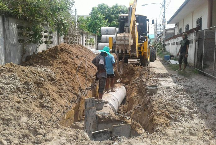 Work near the intersection of Mabyailia Soi 2 and Nongyai Soi 5 should be finished in July.