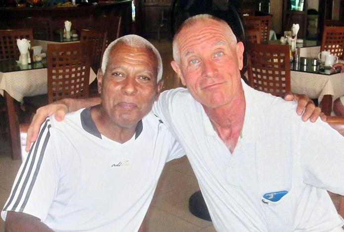 Walter Baechli (right) with Landis Brooks.