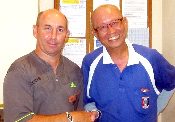 Tommy Marshall (left) with Kenny Chung.