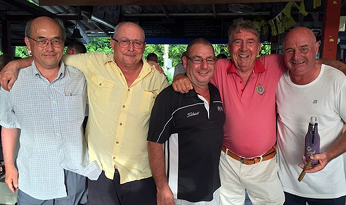 (From left) Ryuta Hirose, Andy Makara, Micky Beresford, Eddie Beilby and Steve Mann.
