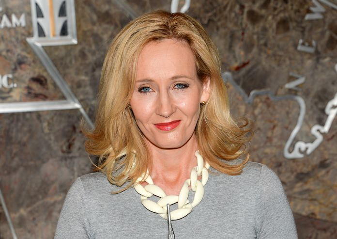 Author J.K. Rowling is shown in this April 9, 2015 file photo. (Photo by Evan Agostini/Invision/AP)