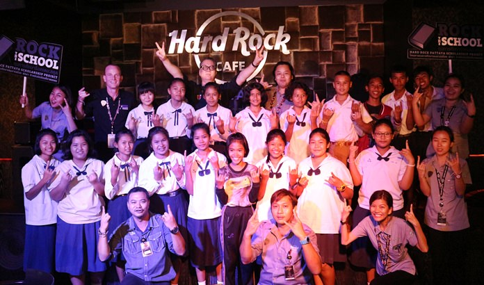 "Hard Rock Hotel Pattaya's ""Rock the School"" project grants scholarships to impoverished students in the Banglamung area."