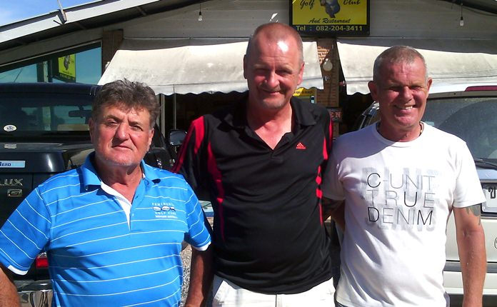 Bent Larson (centre) with Freddie Starbeck and Lou.