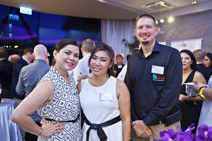 (L to R) Sarudha Netsawang, membership services director at AmCham Thailand, Prutikun Chaifoo, general business support at SCSI Quality Service Thailand, and Bryan Bowman, Southeast Asia Regional Manager at SCSI Quality Service (Thailand) Ltd.