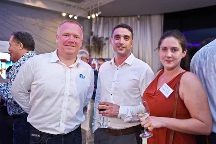 (L to R) Earl C. Brown, MarCom manager at CEA Project Logistics, Michael Andrews, operations manager at CEA Project Logistics, and Kate Manning, group commercial manager at Adelphi Digital Consulting Group.