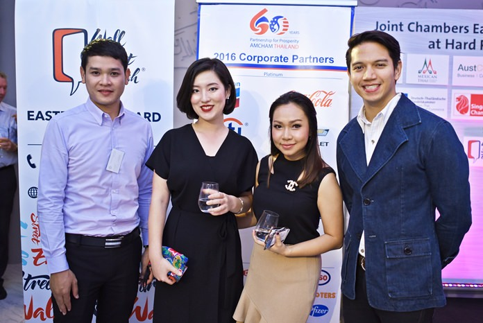 (L to R) Watcharapon Chanthaduang, sales manager at Cape Dara Resort Pattaya, and the Hard Rock Hotel Pattaya team, Boram Jang, sales manager-Korea, Kwanchanok Sapprasong, assistant marketing communications manager and Marut Srisupapol, director of sales and marketing.