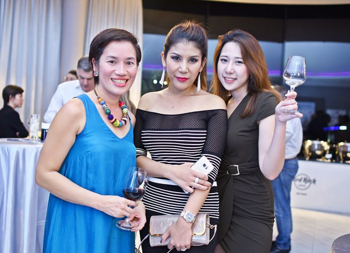 (L to R) Kanavaree Morphett, client executive at IBM Thailand, Waraporn Hausmann, shareholder and managing director at Asian Trading machine Tools, and Lizhen Lynette Fang, property consultant commercial agency at Knight Frank Chartered Thailand.