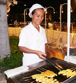 All you can eat buffets at Thai Garden Resort Poolside.