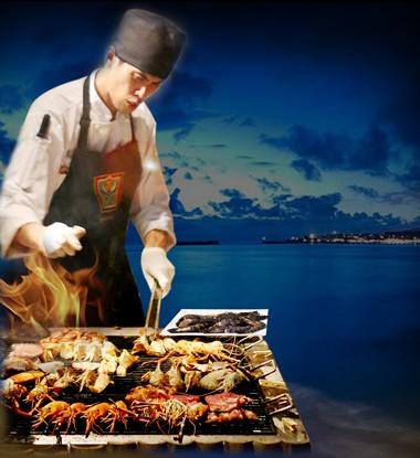 Mirage Beach BBQ Seafood Buffet every Thursday