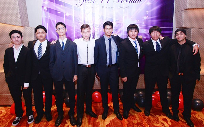 Some of the Year 11 boys from GIS.