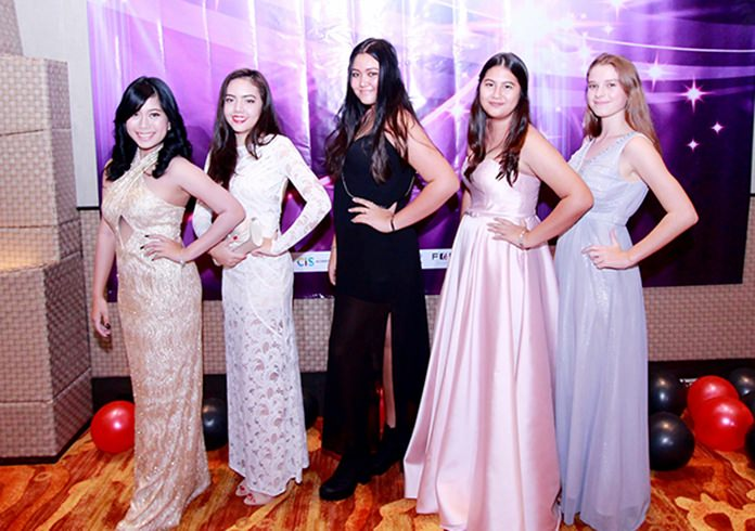 The glamorous girls from Year 11 at GIS.
