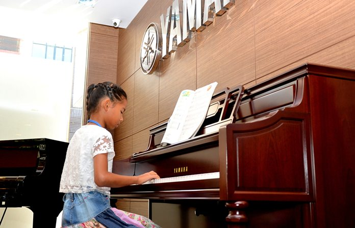 This young pianist will go far in life.