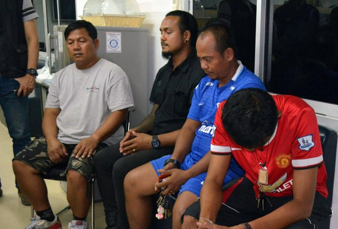 Chamnan Kongplien, Pairoj Boonmee, Apichart Kampein, and Kanung Kesa were taken into custody June 23 for allegedly impersonating police officers and conspiring to rape a 33-year-old Issan woman.