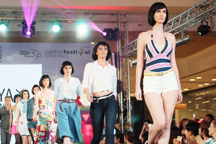 """This year's theme was """"Sexy Beach"""" with models from around the world showing off beachwear."""