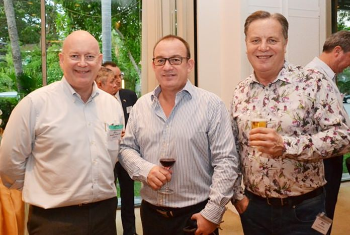 (L to R) Graham Macdonald, president of the SATCC, Mark Bowling, Associate Director, Head of Eastern Seaboard at Savills (Thailand) Limited, and Simon Matthews from Manpower.