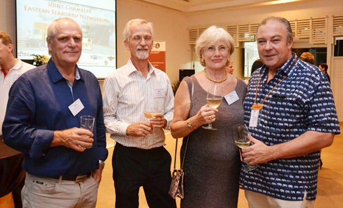 (L to R) Willem De Vries, NTCC, Hans Bodewes, PTT Energy Solutions, Denie De Vries, and Rene Pisters, GM of Thai Garden Resort Pattaya.