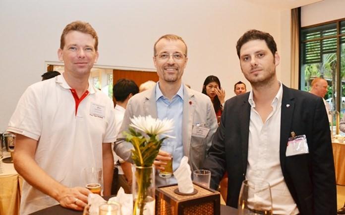 (L to R) Martin Schouten, from Thai Tank Terminal, Gabriele Piaggio, Ducati Motor (Thailand) Co., Ltd., and Luca Martin, Asian Suppliers Development Director.